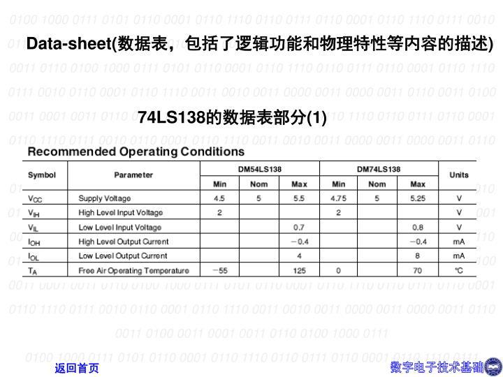 Data-sheet(