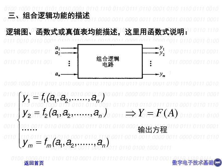 三、组合逻辑功能的描述