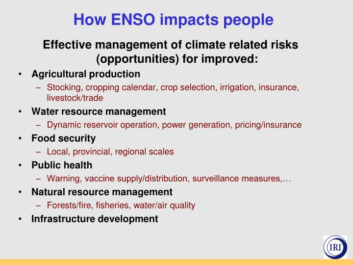 How ENSO impacts people