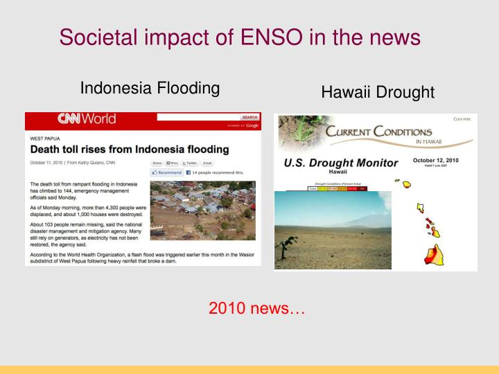 Societal impact of ENSO in the news