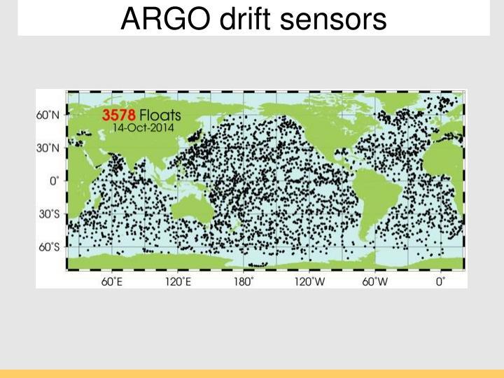 ARGO drift sensors