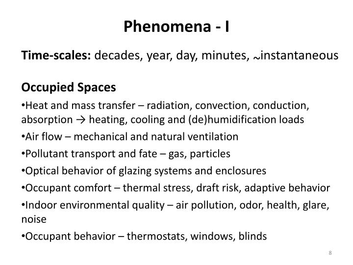 Phenomena - I