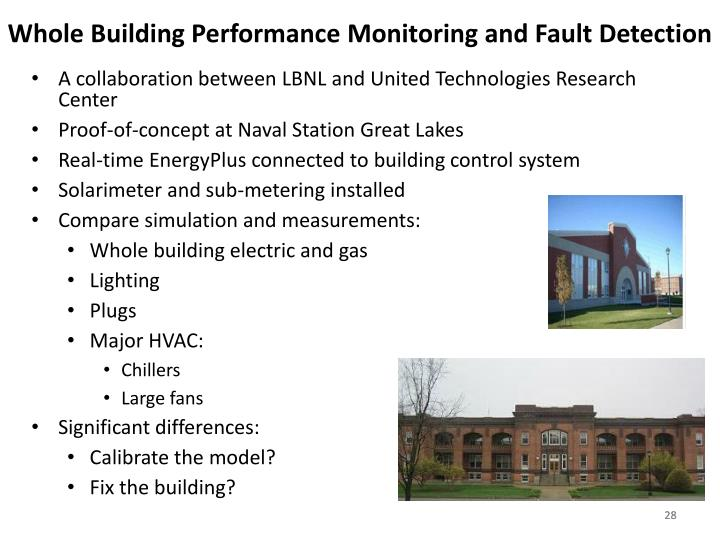 Whole Building Performance Monitoring and Fault Detection