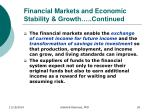 financial markets and economic stability growth continued3