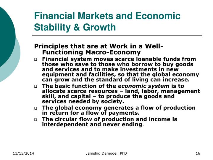 Financial Markets and Economic Stability & Growth