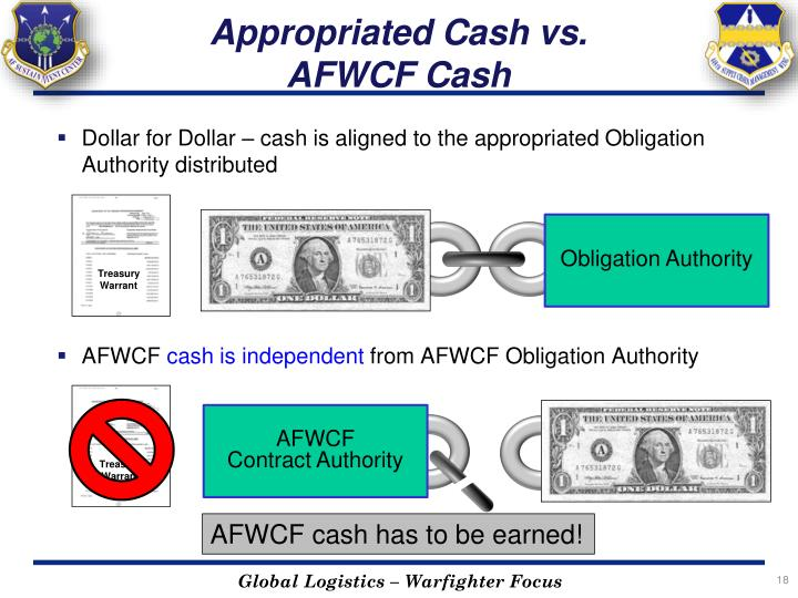 Appropriated Cash vs.