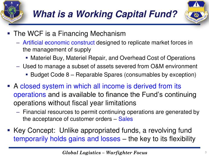 What is a Working Capital Fund?