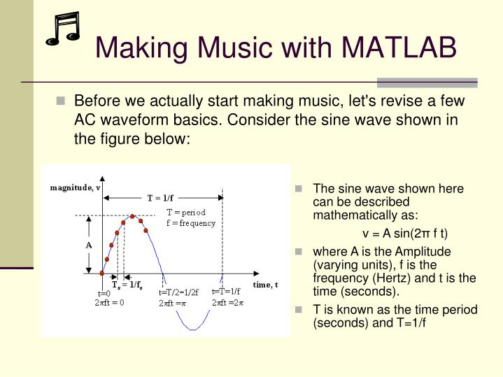 Making Music with MATLAB