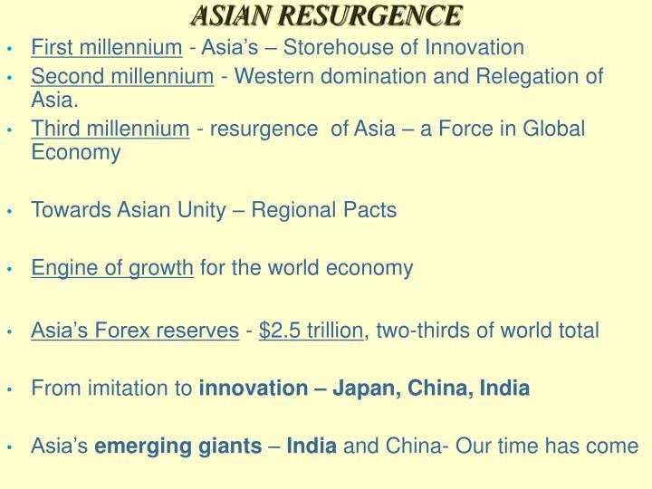 ASIAN RESURGENCE