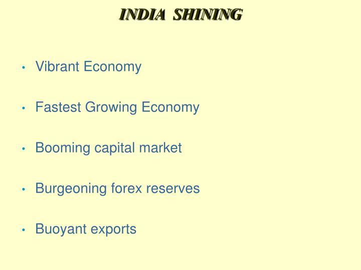 INDIA  SHINING