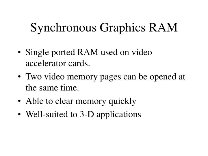 Synchronous Graphics RAM
