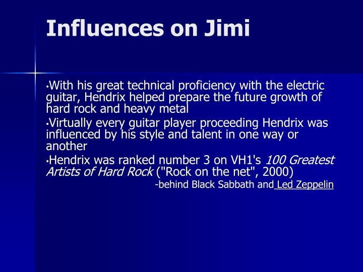 Influences on Jimi