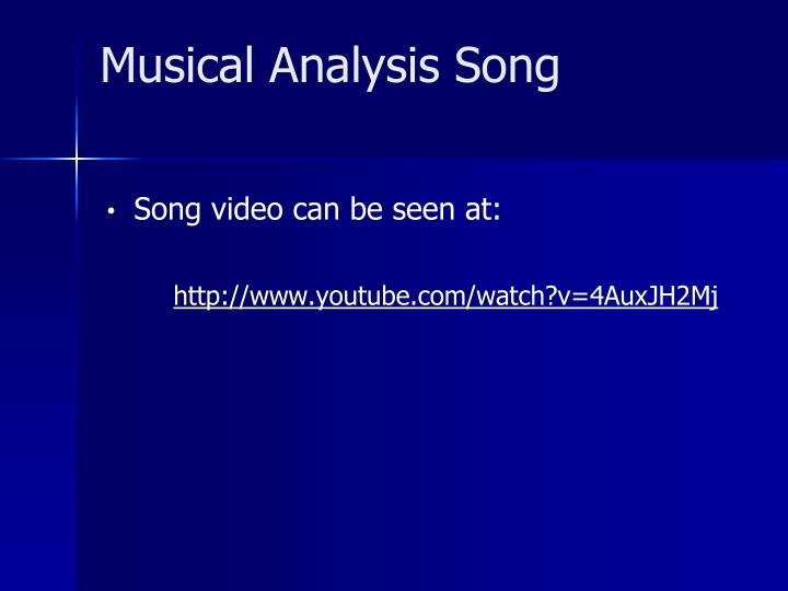 Musical Analysis Song