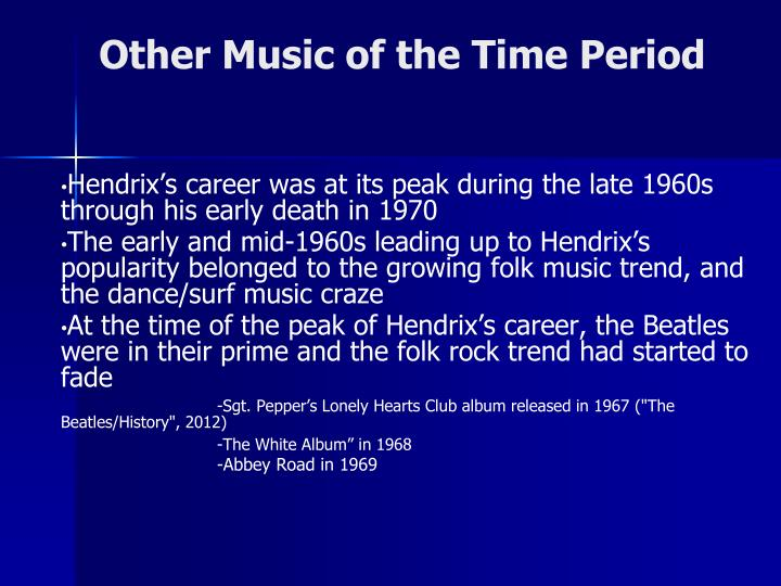 Other Music of the Time Period