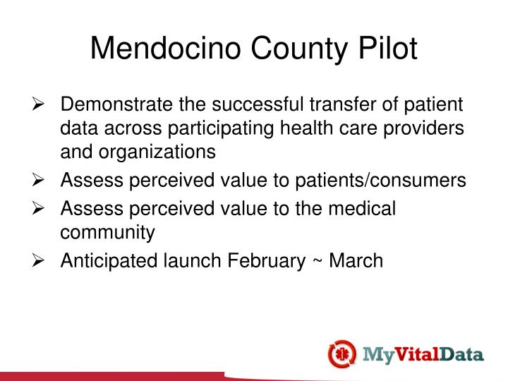 Mendocino County Pilot