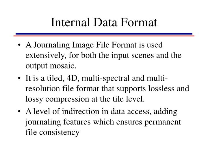Internal Data Format