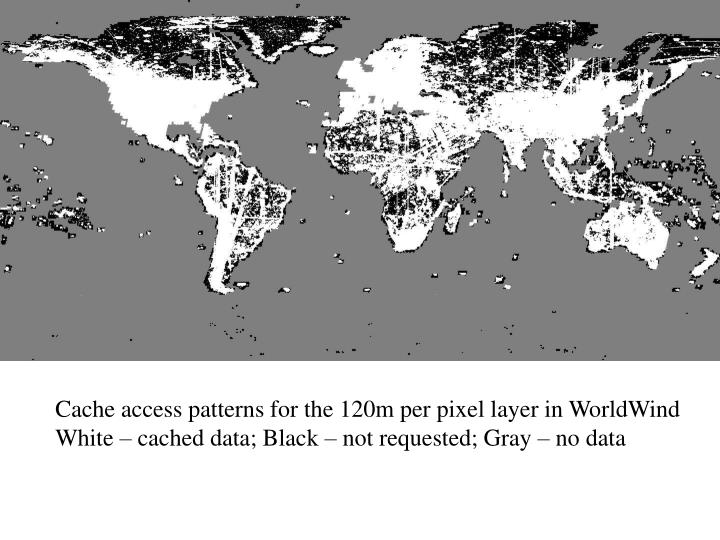 Cache access patterns for the 120m per pixel layer in WorldWind
