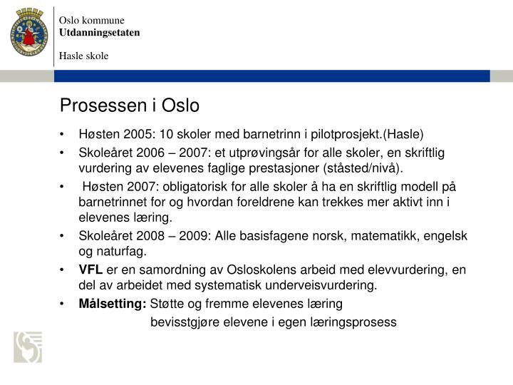 Prosessen i Oslo