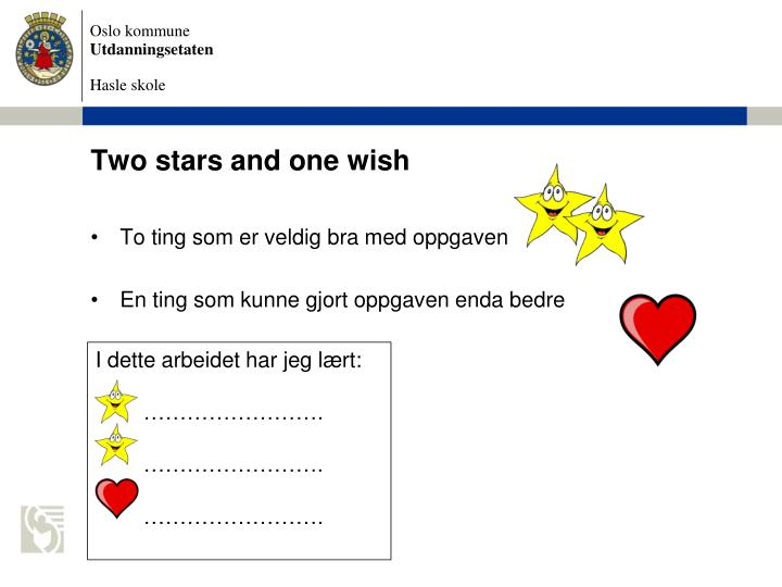 Two stars and one wish