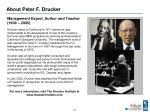 about peter f drucker2