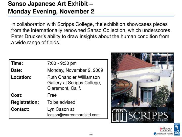 Sanso Japanese Art Exhibit –