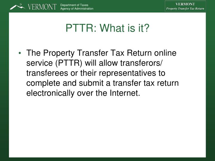 PTTR: What is it?