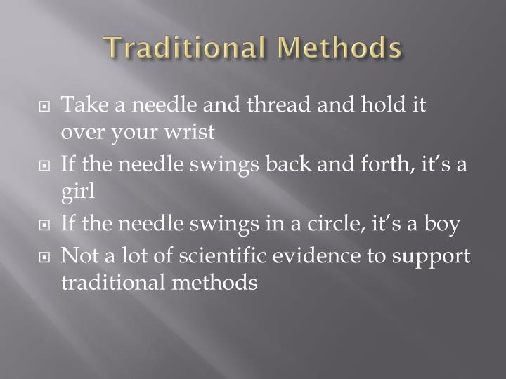 Traditional Methods