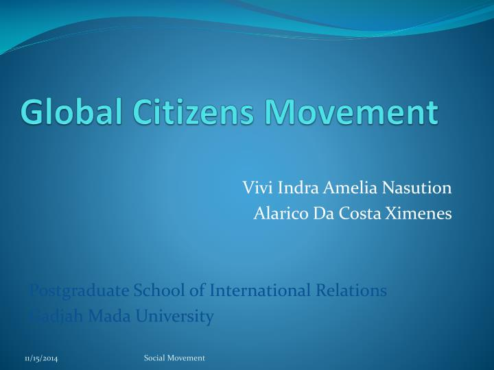 Global citizens movement