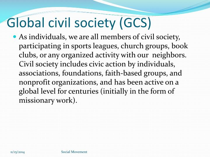 Global civil society (GCS)