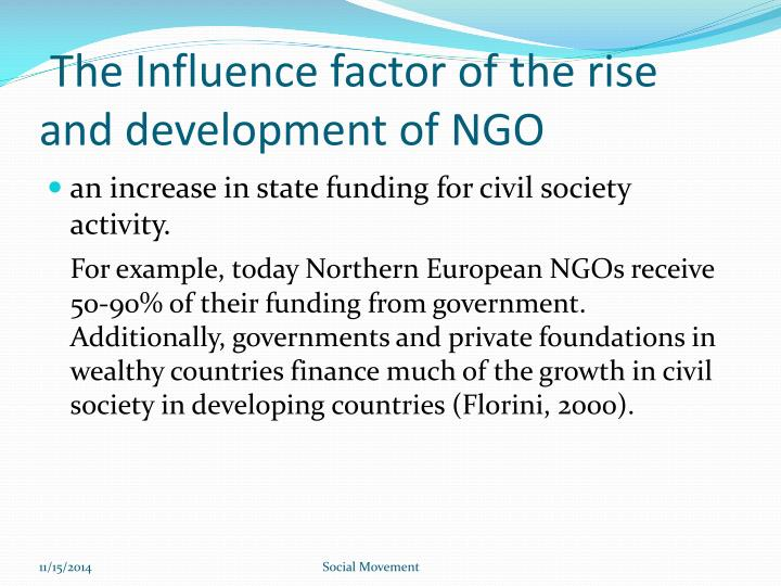 The Influence factor of the rise and development of NGO