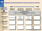integrated learning framework for universal access to learning1