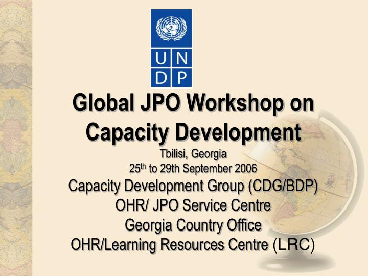 Global JPO Workshop on Capacity Development