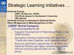 strategic learning initiatives