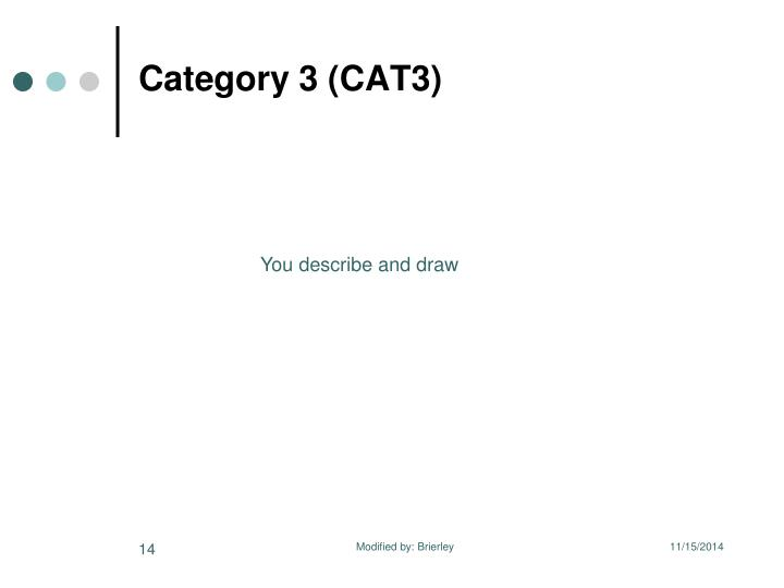 Category 3 (CAT3)