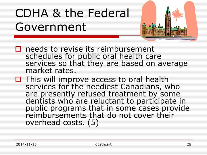 CDHA & the Federal Government