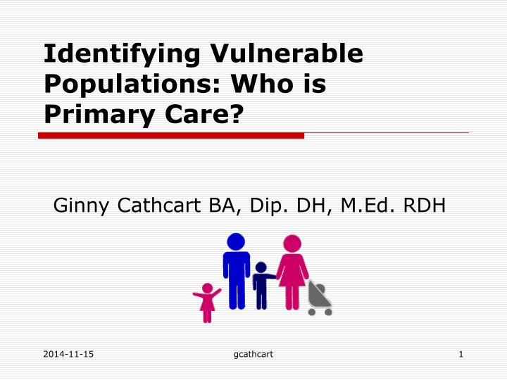 Identifying vulnerable populations who is primary care