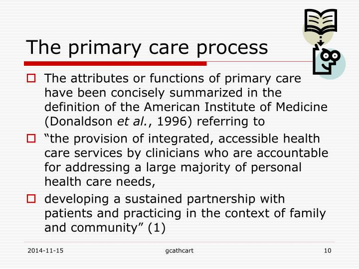 The primary care process