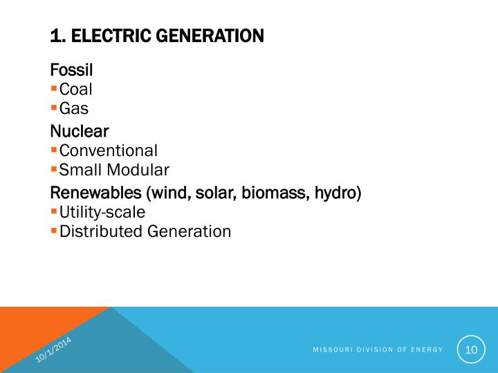 1. ELECTRIC GENERATION