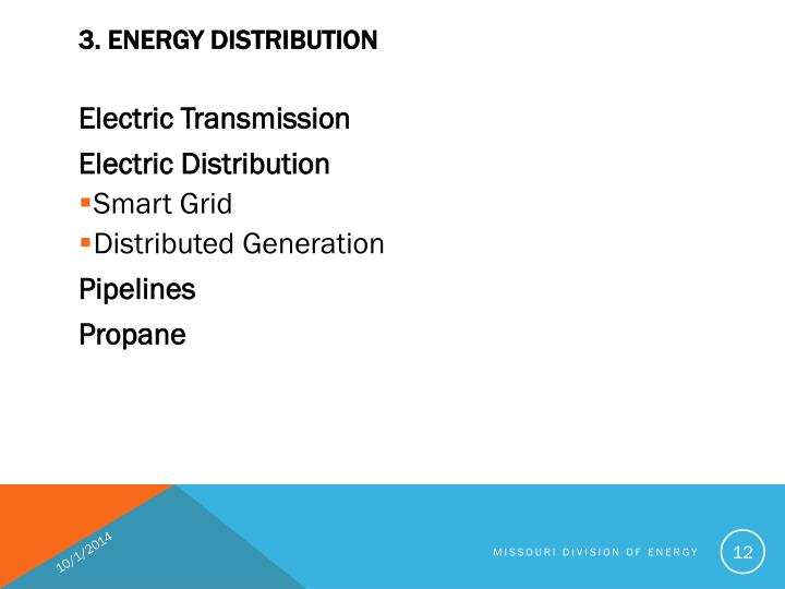 3. ENERGY DISTRIBUTION