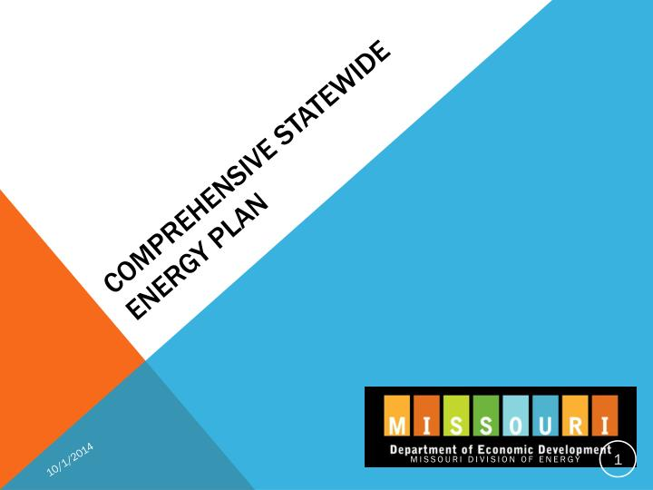 Comprehensive statewide energy plan