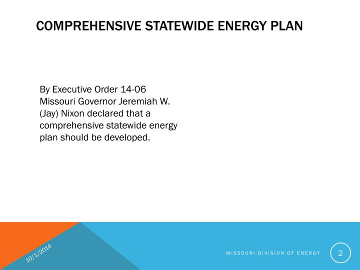 Comprehensive statewide energy plan1