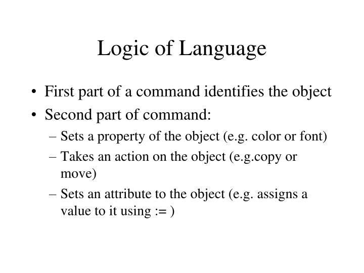 Logic of Language