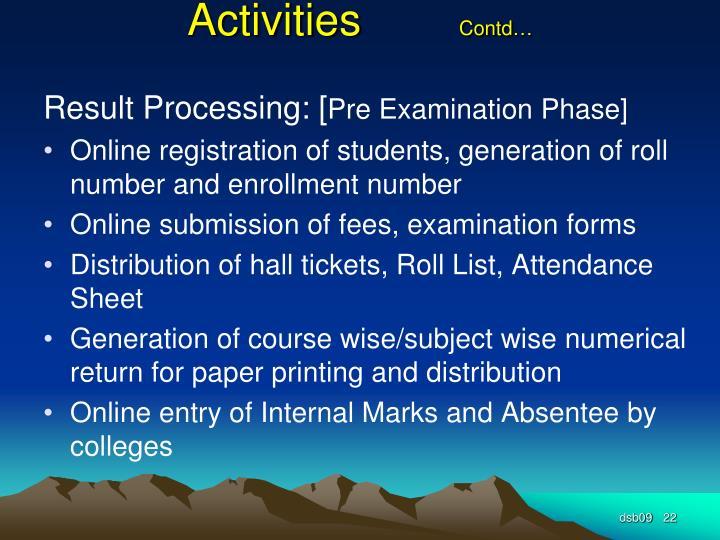 Activities