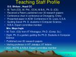 teaching staff profile