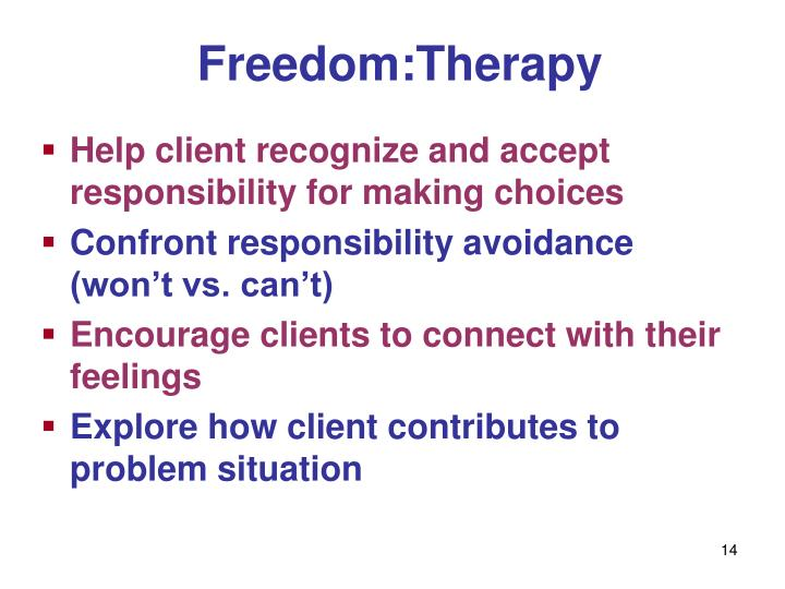Freedom:Therapy
