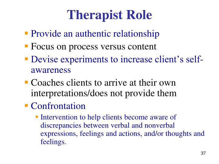 Therapist Role