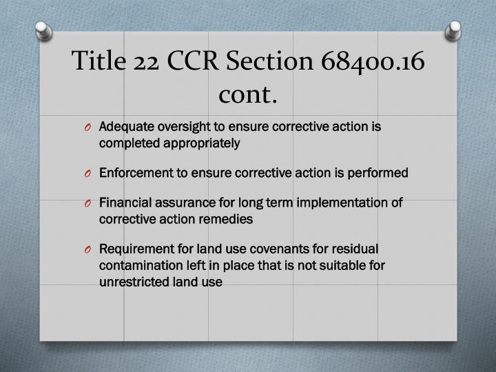 Title 22 CCR Section