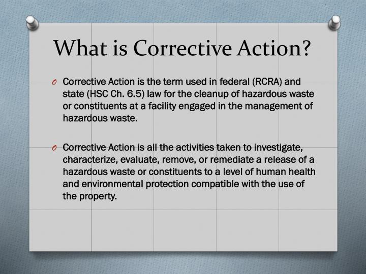 What is Corrective Action?