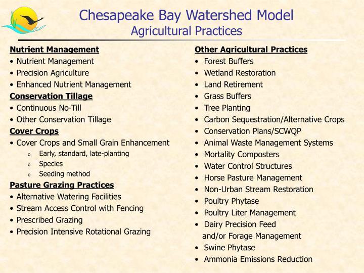 Chesapeake Bay Watershed Model
