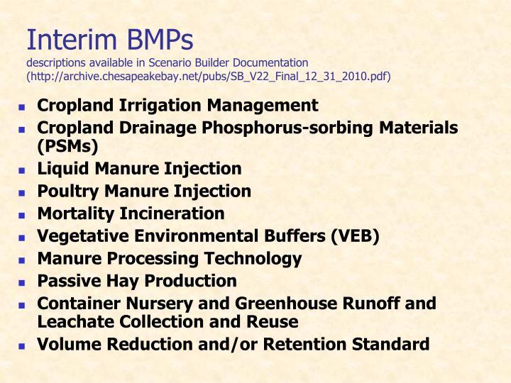 Interim BMPs